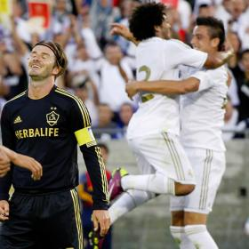 Real Madrid celebra un gol ante L.A. Galaxy