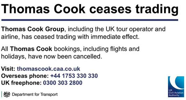 quiebra de Thomas Cook